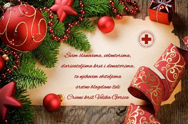 Sretne blagdane želi Vam Crveni križ Velika Gorica